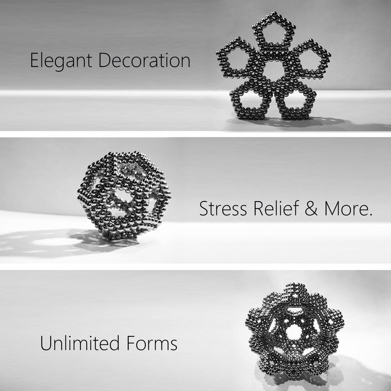 Lamdico Fidget Cube 512 Pcs,Desk Cube for Stress Relief & Creative Inspiration Include Splitter Card and Storage Bag by Lamdico (Image #7)