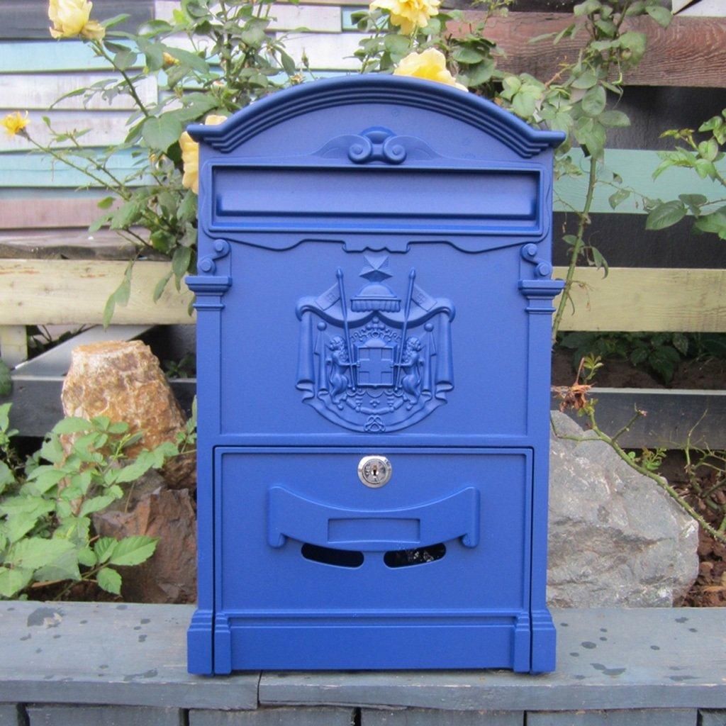 MXD ヨーロッパスタイルのシンプルなメールボックス屋外防水ヴィラの郵便箱ロック大きなポストボックス農村クリエイティブレターボックス (Color : D)  D B07F392F1T