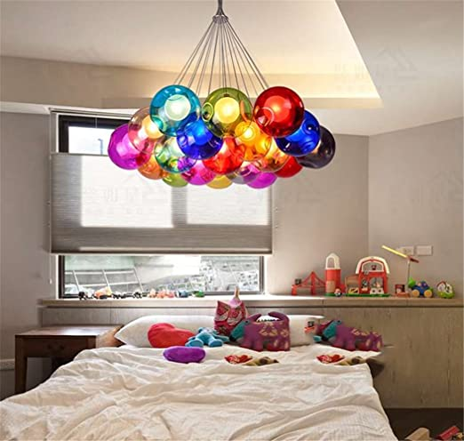 Lámpara Chandelier Moderna de vidrio LED Lampara de techo ...