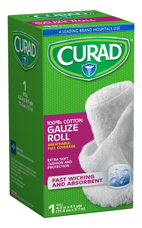 Curad CUR25865ERB Rolled Gauze Bandage, 4.5'' x 4 yd (Pack of 24) by Curad