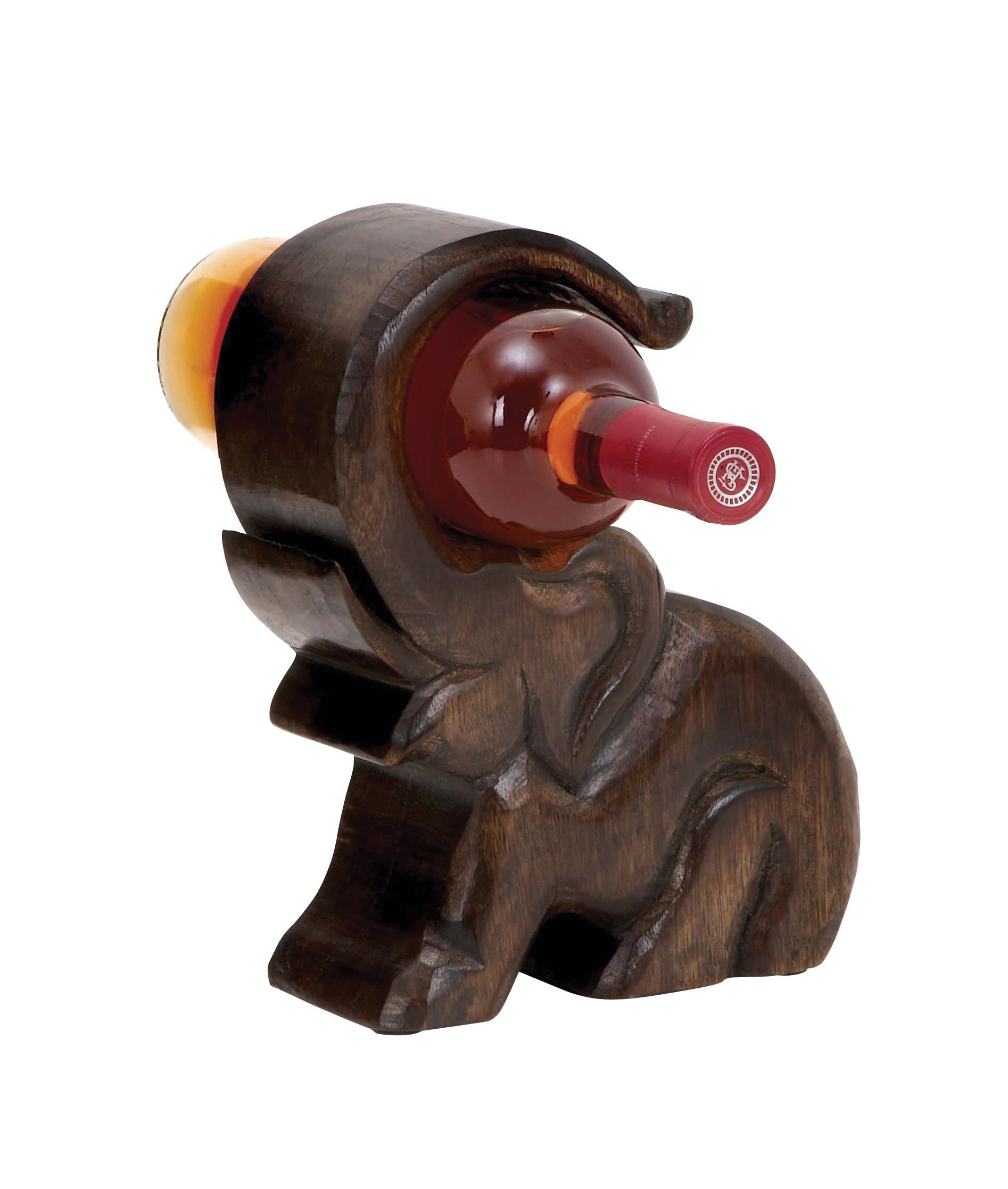 Deco 79 Design Wood Wine Holder with Great Finesse by Deco 79