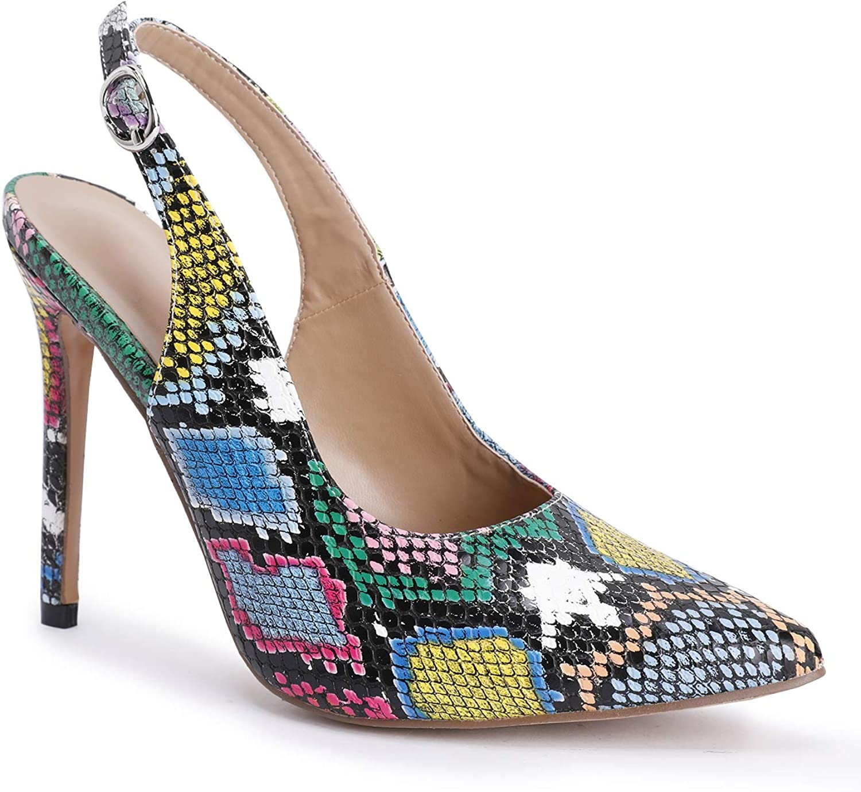 Womens Shoes Peep Toe Wave Shape Stiletto Heels Pumps-Leopard-13