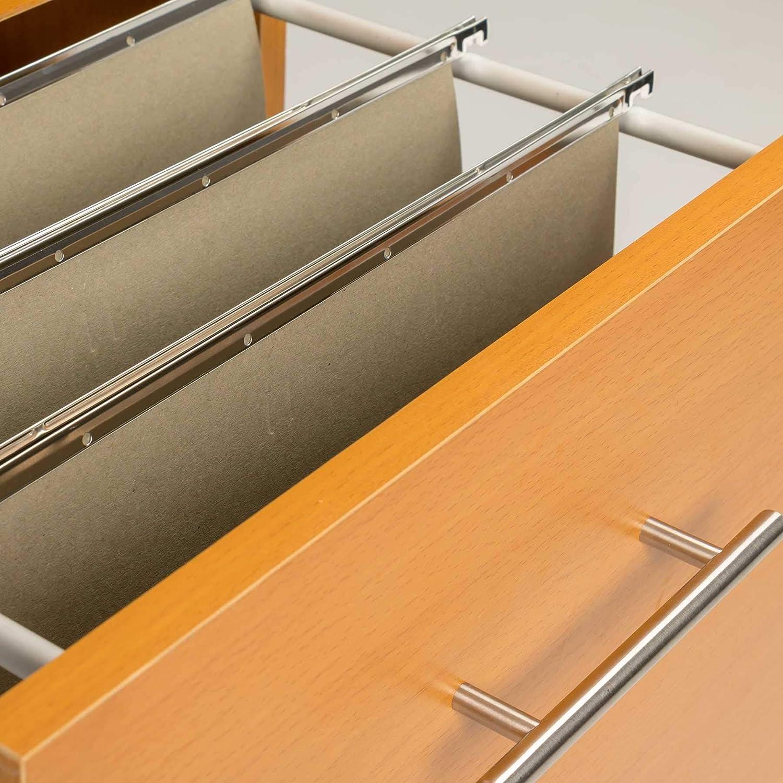 Office 3 Schubladen abschlie/ßbar Schreibtisch Podestal A4 H/ängemappen Kleiderb/ügel in der unteren Schublade