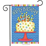 "Happy Birthday Garden Flag Cake Candles 12.5"" x 18"" Briarwood Lane"