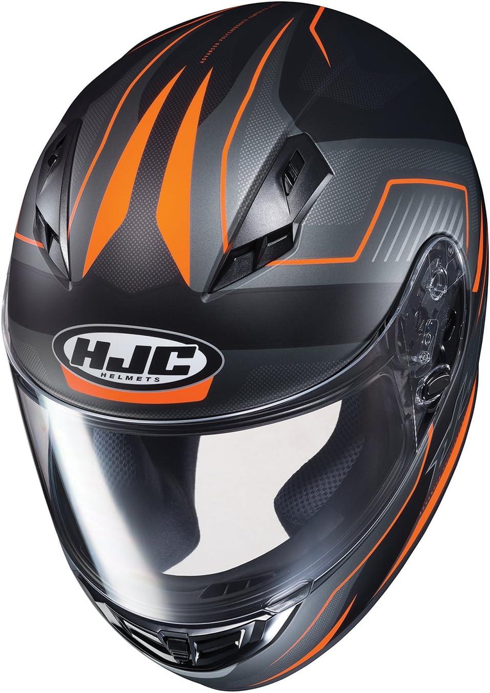 HJC Unisex-Adult Full face CS-RC Trion Helmet Black//Blue//Gray, X-Large