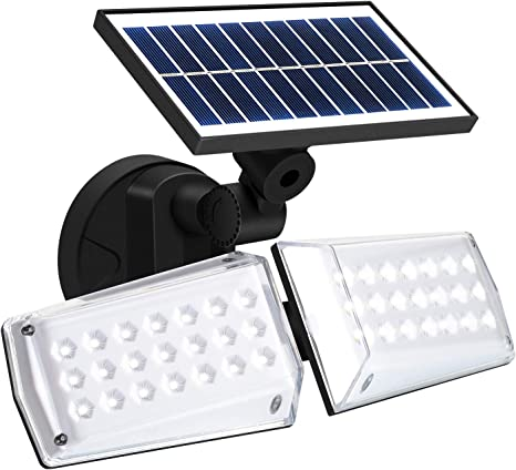 Solar Powered Motion Sensor LED Light Security Flood Garden Lamp IP65 Waterproof