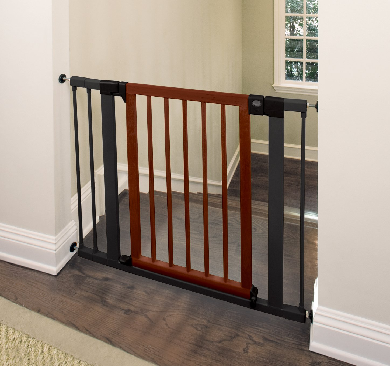 munchkin  wood steel designer gate (dark woodsilver) amazon  - munchkin  wood steel designer gate (dark woodsilver) amazonca baby