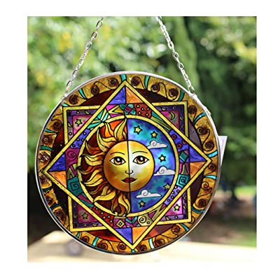 Thorness Sun and Moon Eclipse Glass Sun Catcher: Toys & Games