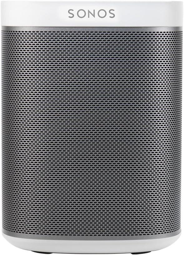 Sonos Play: 1 - Alta voz Inteligente Compatible con Dispositivos Amazon Echo, Cabe en Cualquier Sitio debido a su Tamaño y es Resistente a la Humedad, 12 x 12 x 16.2 cm, Color Blanco