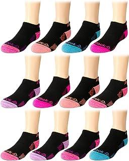 10 Pack Avia Girls Athletic Performance Cushion Quarter Cut Ankle Socks