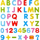 Amagoing Magnetic Letters and Numbers for Educating Kids in Fun -Educational Alphabet Refrigerator Magnets -41 Pieces