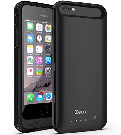 Amazon.com: iPhone 6 Funda Cargador de batería Caso, zeox ...