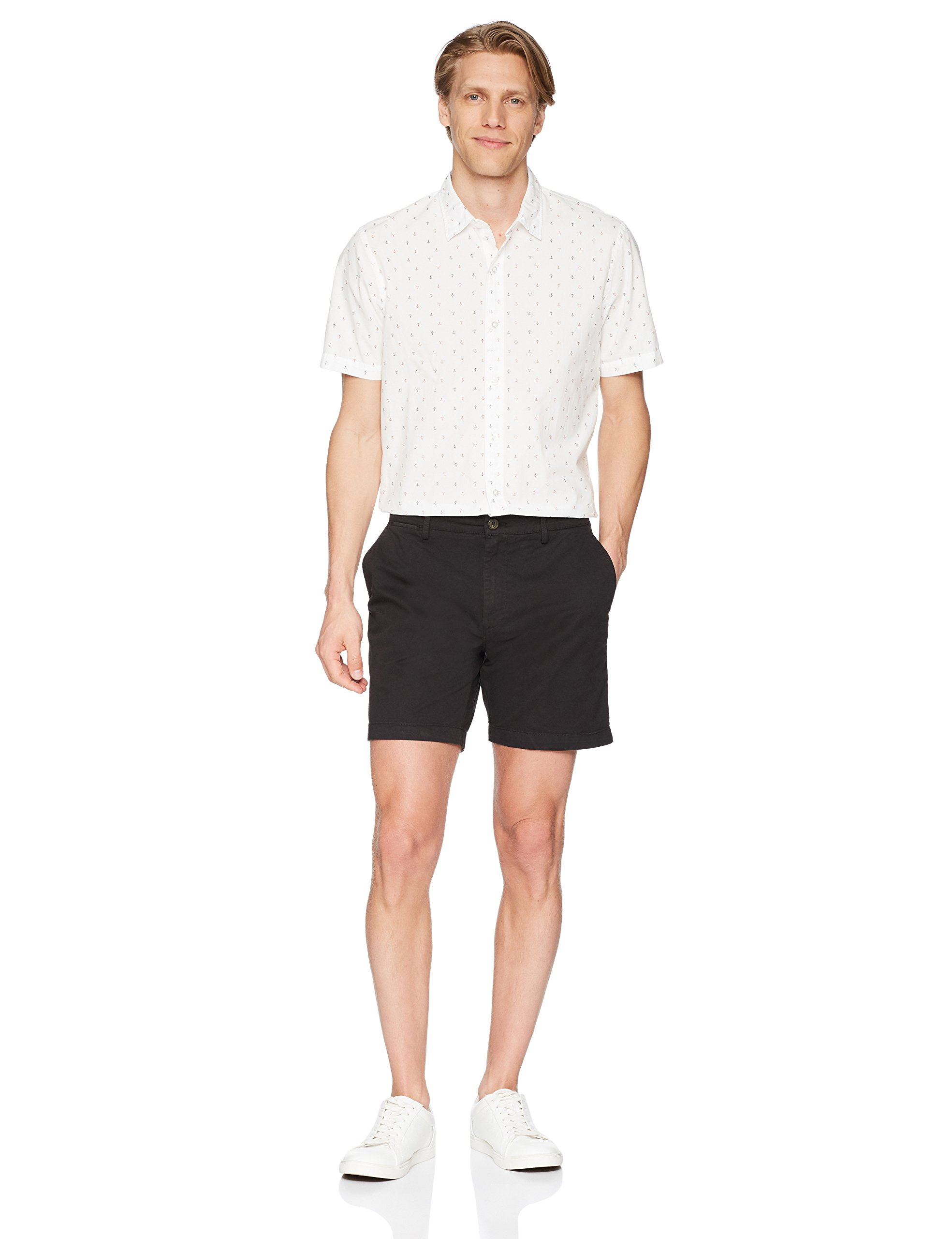 Goodthreads Men's 7'' Inseam Flat-Front Stretch Chino Short, Black, 32 by Goodthreads (Image #2)