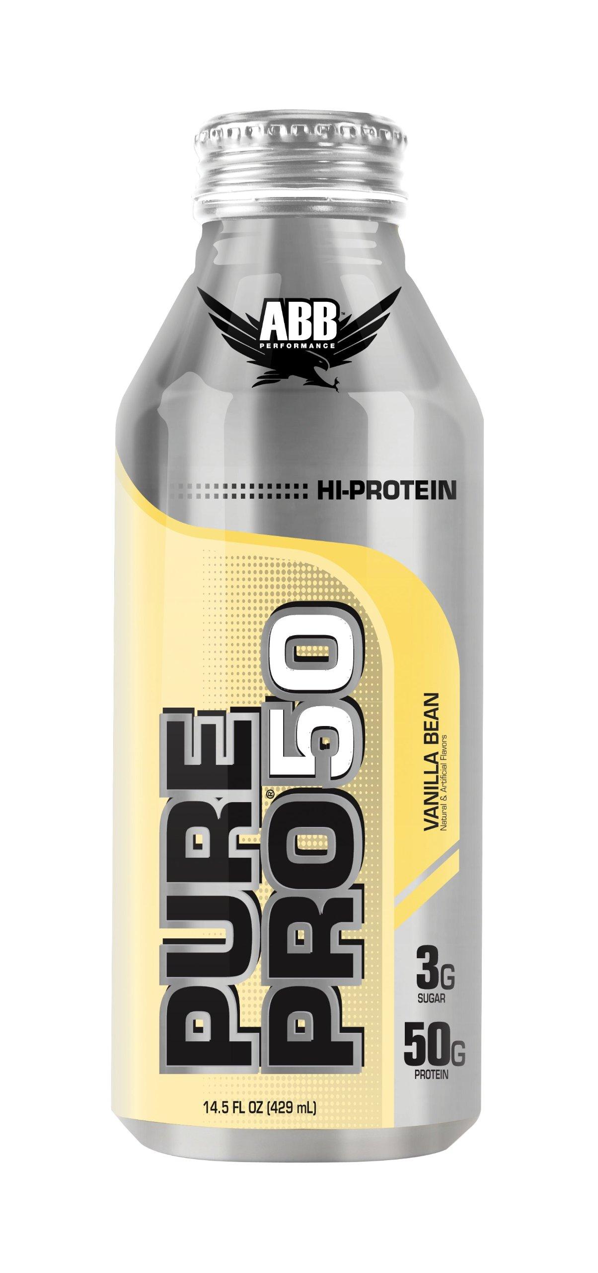 American Body Building Pure Pro 50, Vanilla Bean, 14.5-Ounce Bottles (Pack of 12) by American Body Building