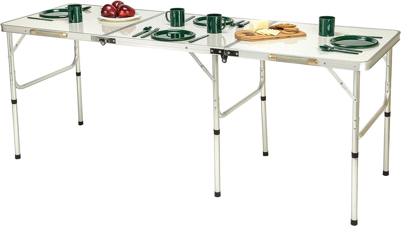 Trademark Innovations Portable LightweightAluminum Folding Table