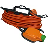 Masterplug CT1510/IPS 10amp 1 Socket IP54 Weatherproof 15 meter Extension Lead With Cable Tidy