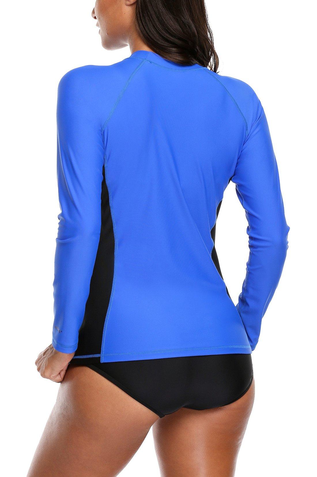 ALove Surf Shirt Rash Guard UPF 50 Athletic Top Womens Surf Rashguard Long Sleeve Medium by ALove (Image #5)