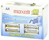 Maxell 723443 Ready-to-go Long Lasting and Reliable Alkaline Battery AA Cell 48-Pack with Flexible Compatibility