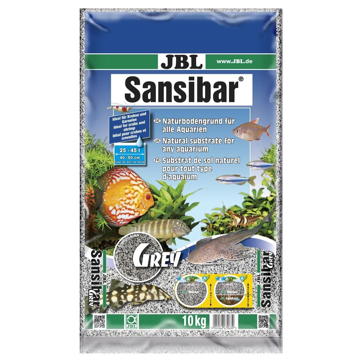 JBL Sansibar GREY 10kg - Substrat de sol fin gris pour aquariums d'eau douce ou d'eau de mer 6706300