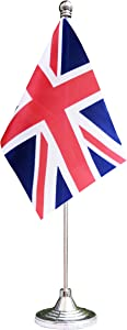 United Kingdom Desktop Flag,UK British Table Flag,Desk Flag,Office Flag,for Home Garden Office Decoration, Festival Celebrations