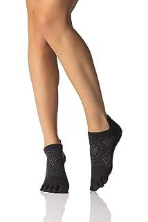 Toesox Womens Low Rise Full Grip Non-Slip For Ballet, Yoga ...