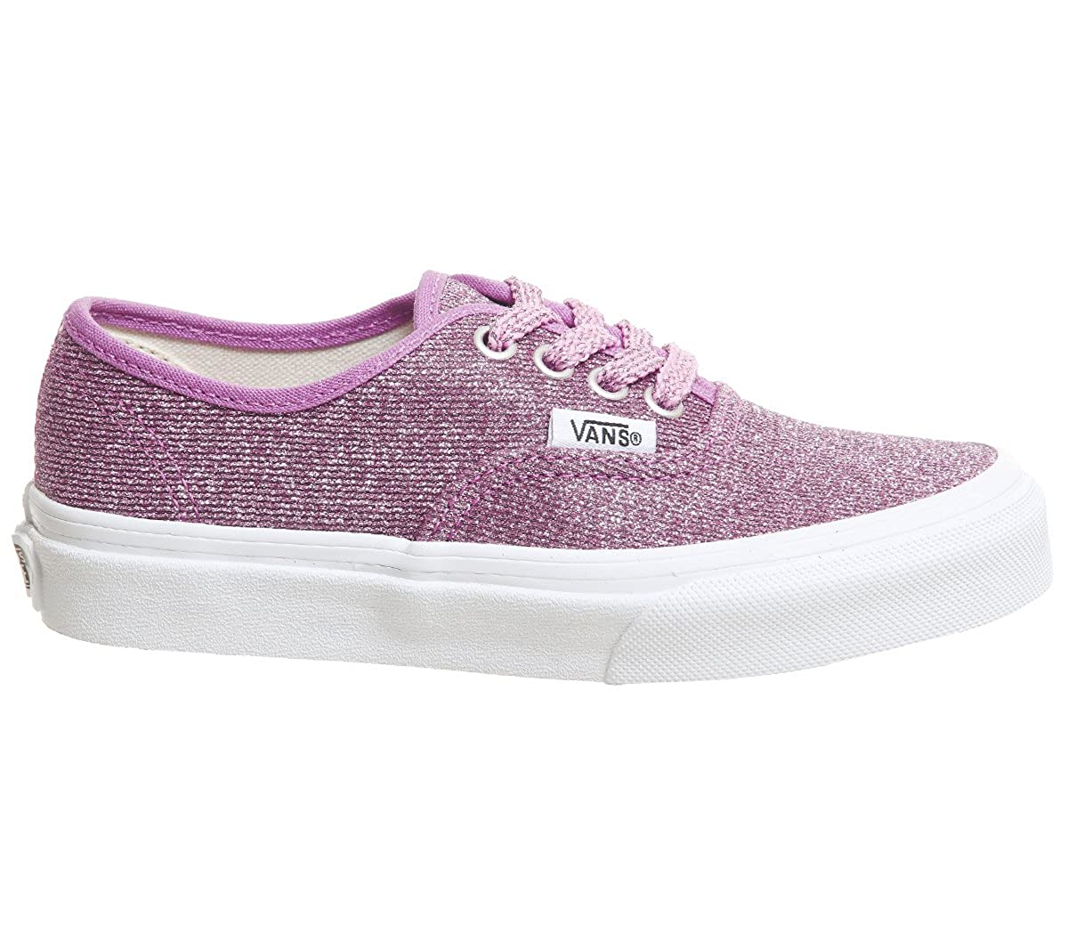 ce9284768d8f60 Amazon.com  Vans Kids Lurex Glitter Pink True White Authentic Sneakers   Shoes
