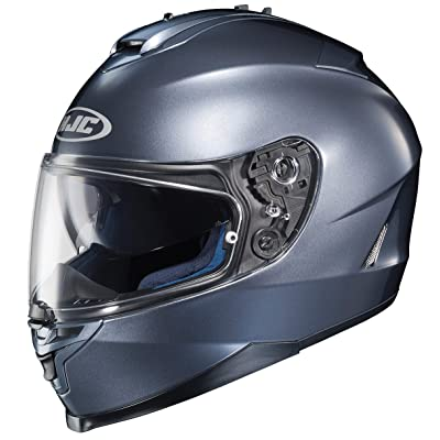 HJC 582-566 IS-17 Full-Face Motorcycle Helmet (Anthracite, XX-Large): Automotive
