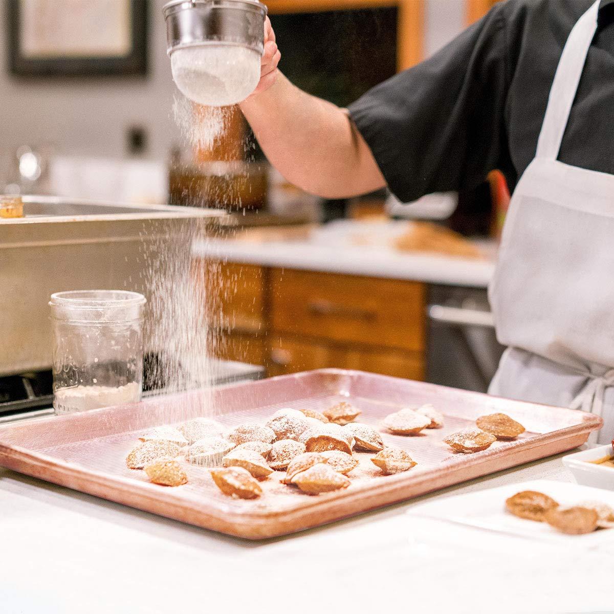 Bakeware Set, TOPTIER 6 Piece Nonstick Baking Pan Sets with Cookie Baking Sheets, Muffin Pan, Loaf Pan, Round Cake Pan, Roasting Pan for Baking | Prime Housewarming & Wedding Gift, Rose Gold by toptier (Image #6)
