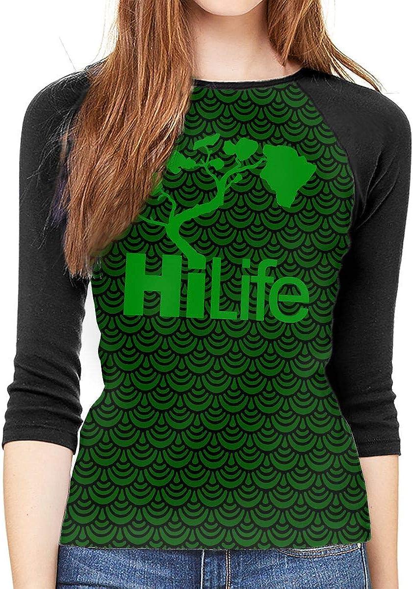 XYMYFC-E Hi Hawaii Hi Life Adult Womens Long Sleeve Tshirts