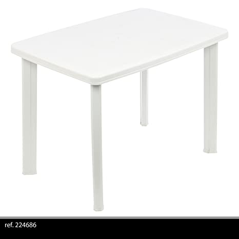 Tavolo Giardino Plastica Bianco.Greemotion 431020 Tavolo Faretto Ovale Giardino Esterno In Plastica