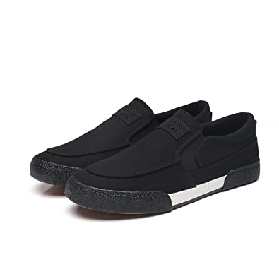 Espadrilles Mens Canvas Shoes Casual Shoes Outdoor Exercise Sneakers Running Shoes Deck Shoes (Color : Black Size : 41)