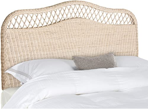 Safavieh Home Collection Sephina White Washed Rattan Headboard King