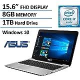 Asus F555LA-US71 15.6-inch Laptop (Intel Core i7-5500U,  8GB DDR3L 1600 MHz RAM, 1TB 5400 RPM HDD, Windows 10), Black