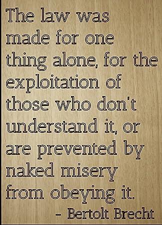 Amazonde Mundus Souvenirs Bertolt Brecht Zitat The Law Was
