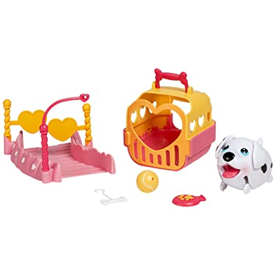 Chubby Puppies Dalmatian Puppy Weave Pole Course Playset Plus Carrier: Toys & Games