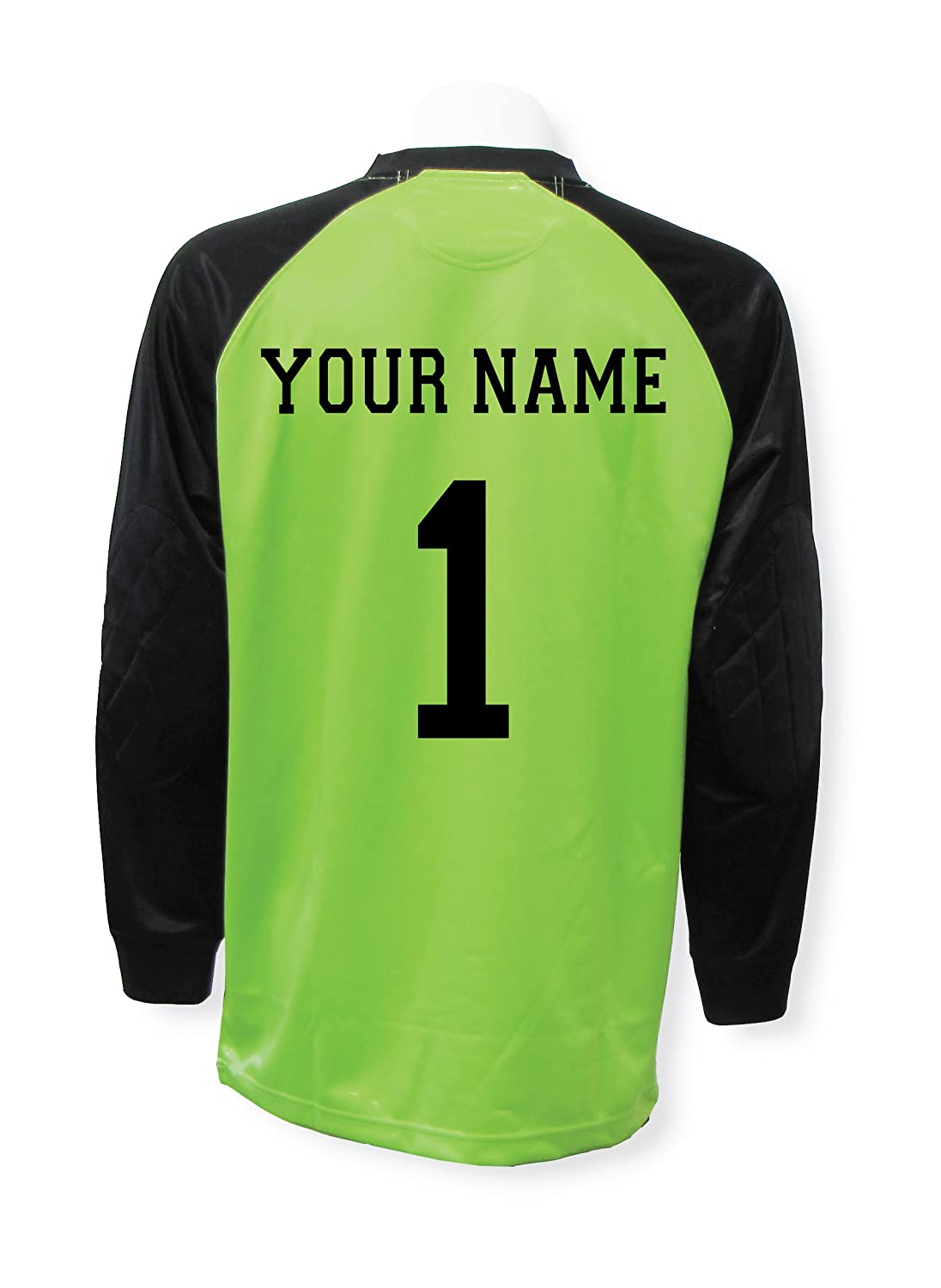 Soccer Goalkeeper Jersey Personalized with your name and number B013TSSEI4 Adult Large|ライムグリーン ライムグリーン Adult Large