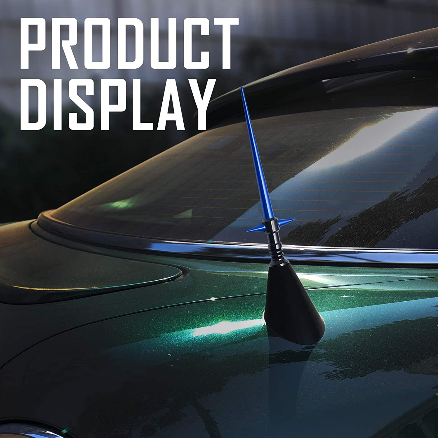 Navy/Blue Elitezip Replacement Antenna for Ford F-150 1997-2018 Optimized AM//FM Reception with Tough Material 5.25 Inches