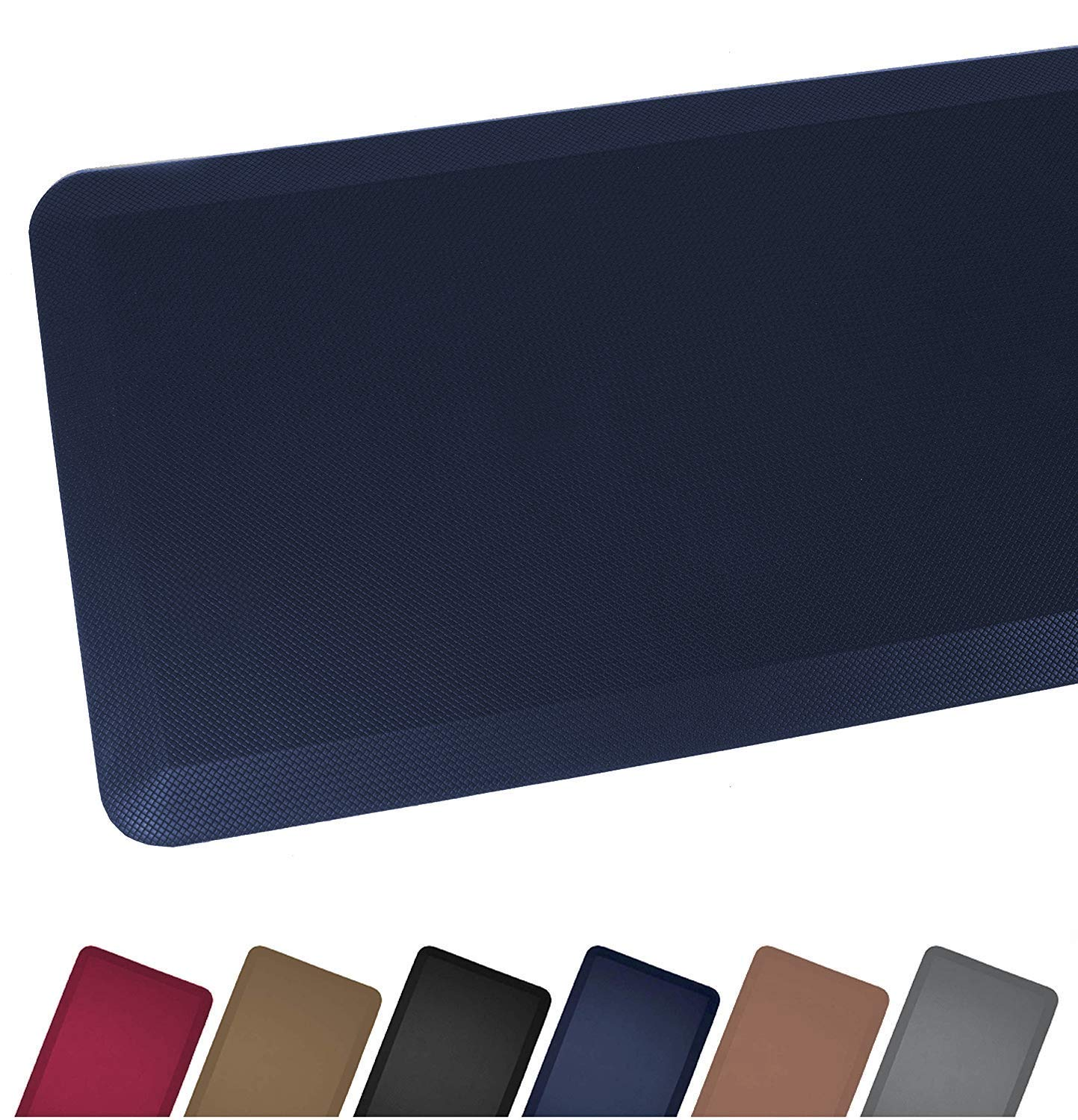 Anti Fatigue Comfort Floor Mat By Sky Mats - Commercial Grade Quality Perfect for Standup Desks, Kitchens, and Garages - Relieves Foot, Knee, and Back Pain, 20x32x3/4-Inch, Dark Blue