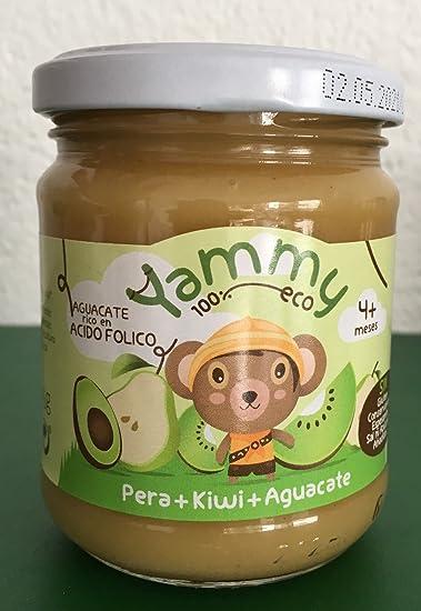 Yammy - Potito ecológico de frutas: Pera+Kiwi+Aguacate Pack 6 Unidades: Amazon.es: Alimentación y bebidas