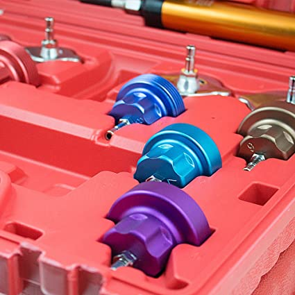 Bituxx Kfz Kühlsystem Abdrückgerät Druckprüfung Abdrücken Tester Kühler Werkzeug 14 Teilig Messbereich 0 2 5 Bar Für Alle Gängigen Pkw Geeignet Auto