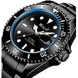 Watches for Men Automatic Mechanical Multifunctional Watch Stainless Steel Luminous Waterproof Self Winding Men's Watch Busin