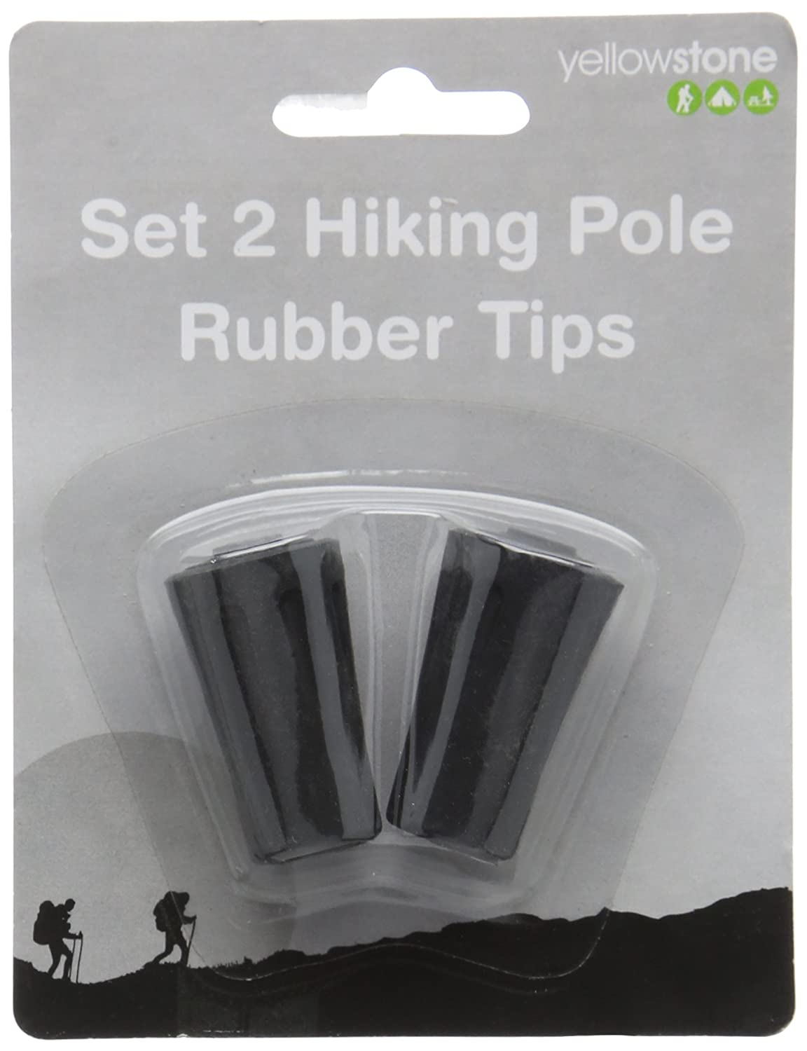 Yellowstone Hiking Pole Rubber Tip (Pack of 2) - Multi-Colour B00MRAW8E2