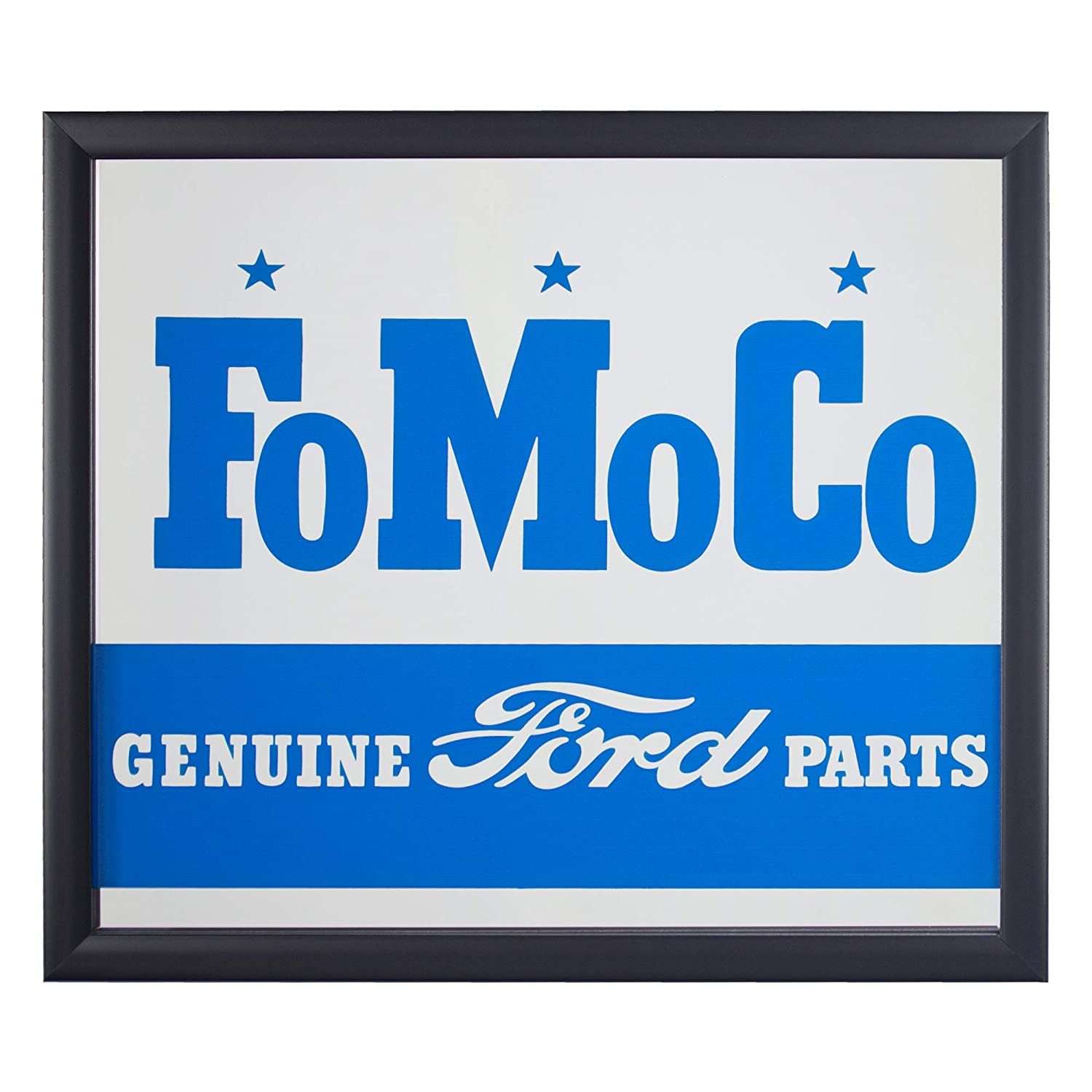 American Art Decor Officially Licensed Ford Motor Company Genuine Parts  Framed Printed Accent Mirror for Man Cave, Bar, Garage (13