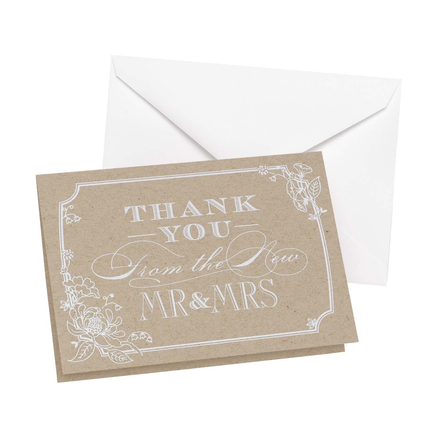 Hortense B Hewitt Country Blossom Thank You Cards 50-Pack 2