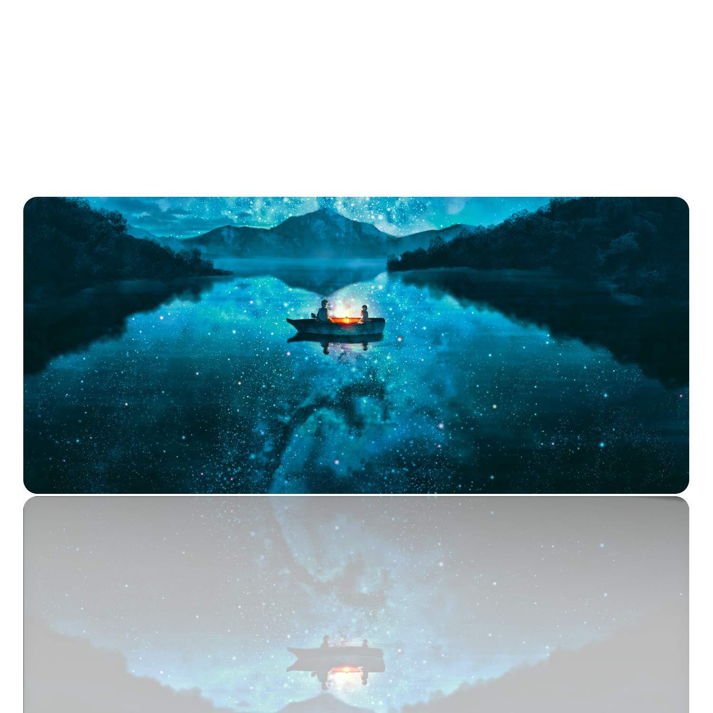 """Ruifengsheng Tappetino per Mouse da Gioco, Tappetino Mouse Impermeabile con Retro di Gomma Antiscivolo Superficie di Strutturato Speciale Supporto per Computer, PC e Laptop - 35.4""""x15.7"""" (90x40 Fire dragon015)"""