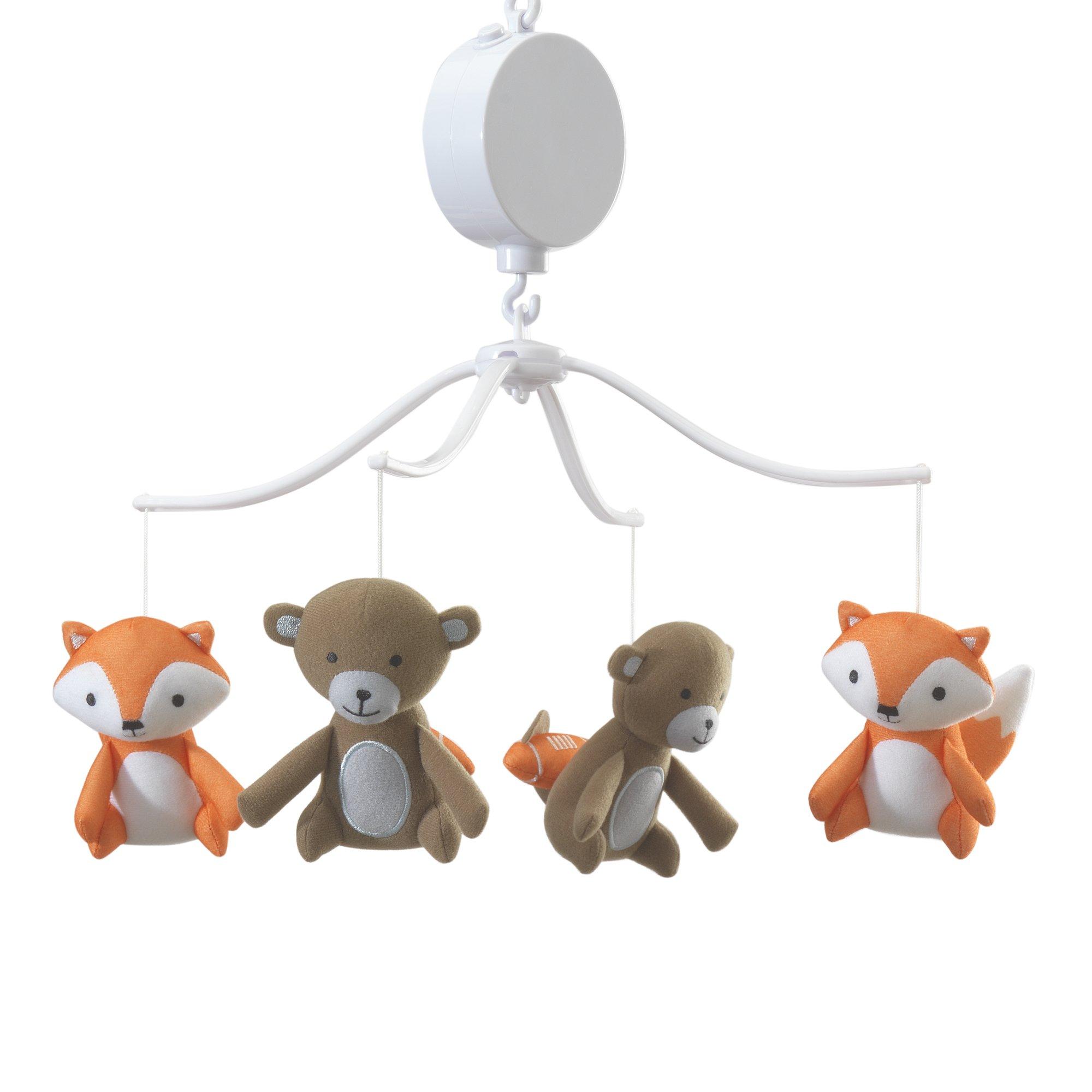 Bedtime Originals Baby League Sports Animals Musical Mobile, Brown/Orange