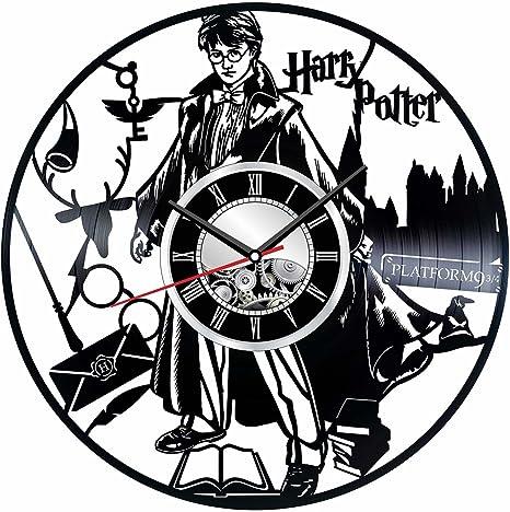 Harry Potter Reloj de pared hecho de vinilos vintage – reloj elegante y increíble idea de regalos –