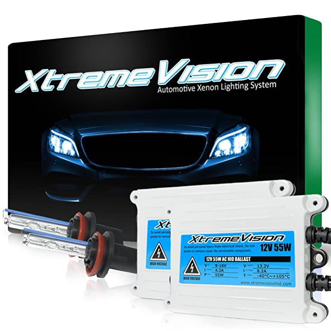 5000K Pure White Xenon Light 5X Brighter All Bulb Colors and Sizes 4X Longer Life OPT7 Blitz 55W H1 HID Kit 2 Yr Warranty
