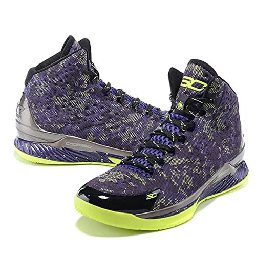 buy online f9233 9642d Under Armour Curry 1 Black Purple and Yellow (3) Training Shoes Men s UA  Fireshot Basketball Shoes  Amazon.ca  Shoes   Handbags