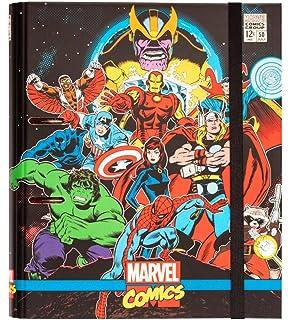 Carpeblock 4 anillas Marvel comics avengers: Amazon.es ...